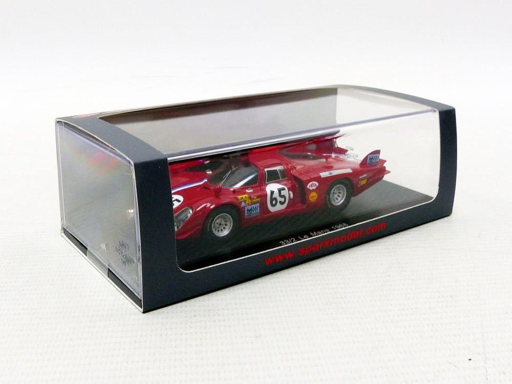 Miniature Voiture Alfa Romeo T33//2 Le Mans 1968 Echelle 1//43 S4371 Rouge// Jaune Spark