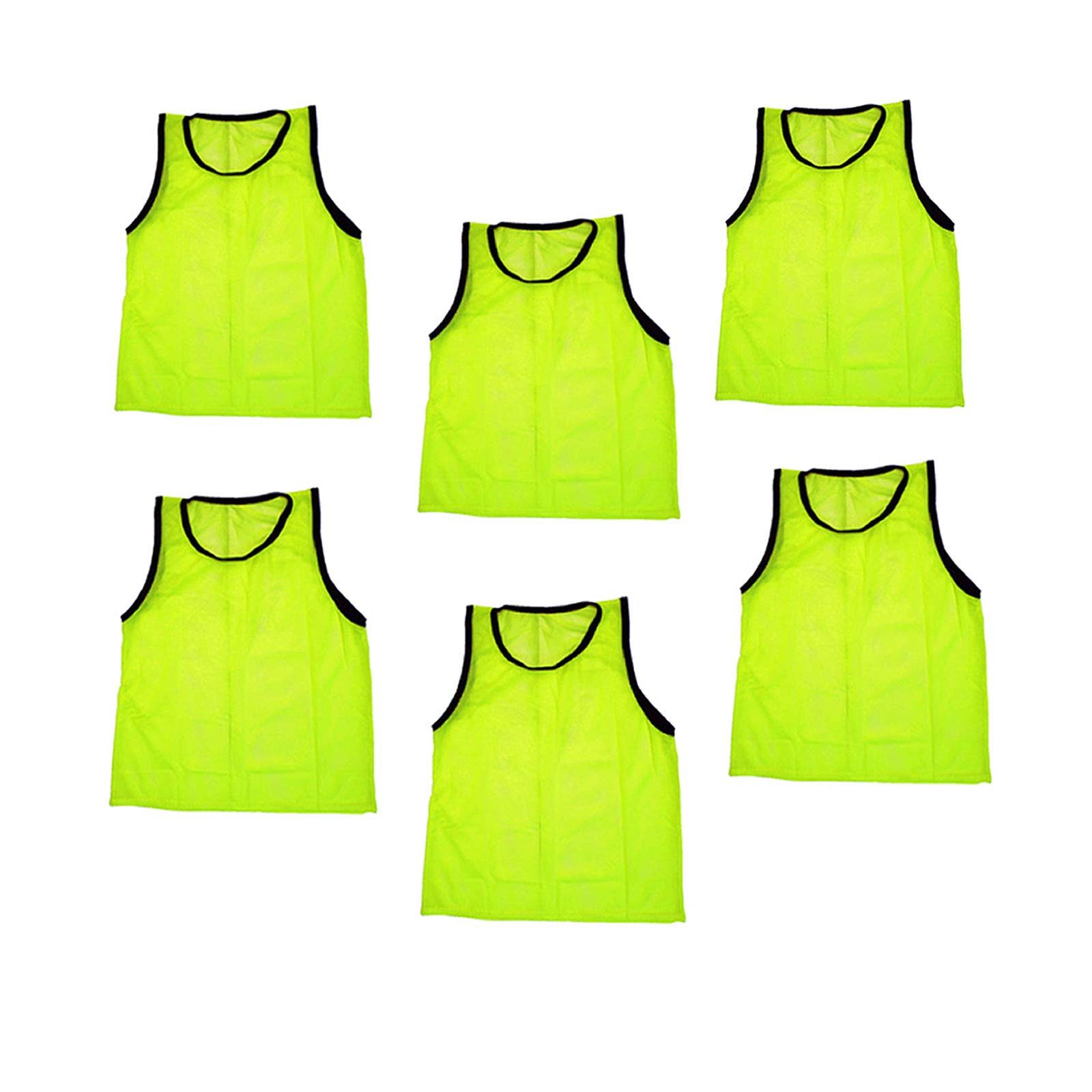 Bright Sun 6 pcs Scrimmage Vests Pinnies Soccer Youth Yellow #BDMN