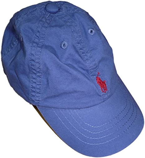 Ralph Lauren bebé niños Cap pantalla Gorro Azul Polo Jinete 12 ...