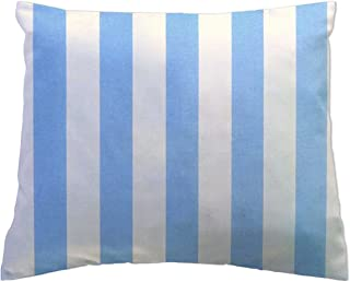 product image for SheetWorld Crib Toddler Pillow Case, 100% Cotton Woven, Blue Stripe, 13 x 17, Made in USA