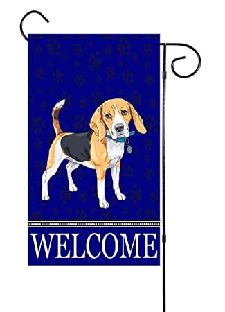 Beau Beagle   Dog Lover Garden Flag 12u201dx18u201d
