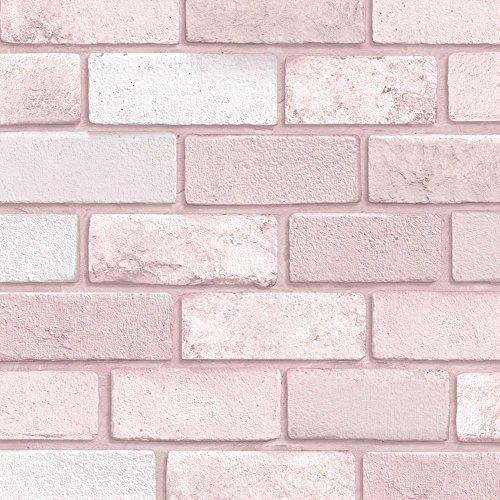 Pink Brick - Arthouse Diamond Pink Brick Wallpaper,