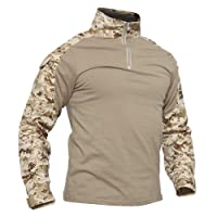 Men's Military Rapid Assault Slim Fit Pullover Long Sleeve 1/4 Zip T-Shirt