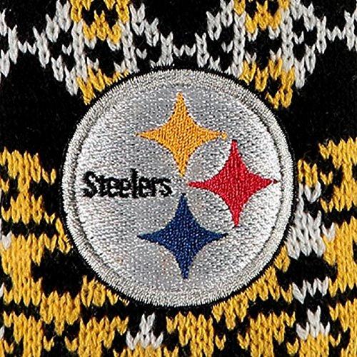 Botas Zapatilla Azteca Para Mujeres De Pittsburgh Steelers Negro, Dorado