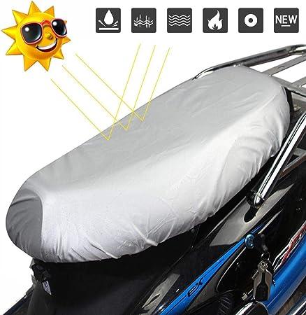 Sunnyushine Motorrad Sitzbezüge Sitzbankbezug Sitzbankabdeckung Für Motorrad Roller Moped Sitzbezug Leder 210d Oxford Tuch Motorradbezug Leichte Sitzbezug Wasserdicht Regen Staub Uv Auto
