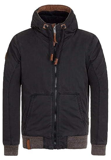 7abe3de3c6 Naketano Men's Parka Plain Long Sleeve Jacket - Black - Medium ...