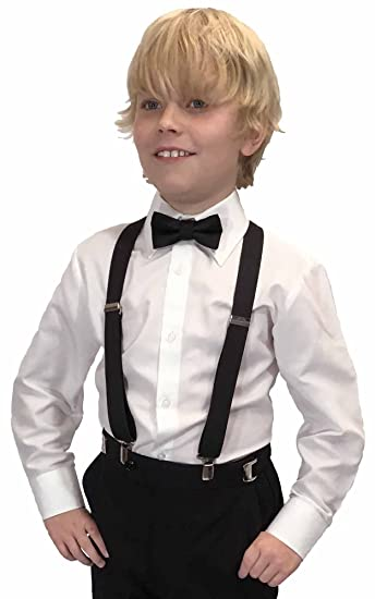 Amazon Spencer Js Boys X Back Suspenders Bowtie Set Variety