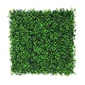 "Artificial Plants Wall Boxwood Hedge Grass Mat / High Density Greenery Panels Ivy Fence 20""x 20"" Panels (12 Pack)"