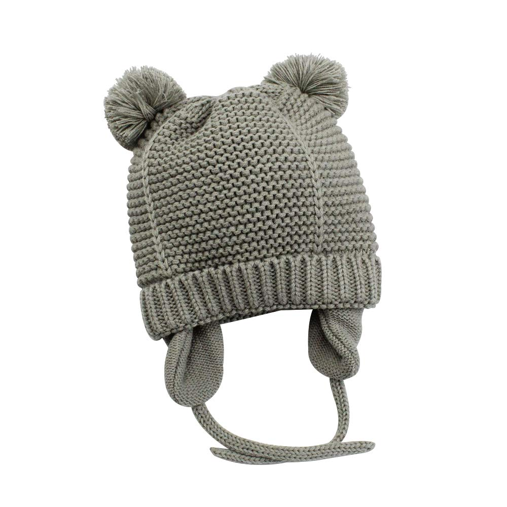 Amazon.com  XIAOHAWNG Baby Hat Boys Girls Winter Cotton Lined Toddler Kids Knit  Caps Warm Cute Pom Pom Beanie for Infant  Clothing 2b9558d8ccc