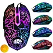 FlexBrains 3200 DPI LED Optical USB Wired Gaming Mouse With Ergonomic Design For Pro Gamers - Fully Compatible with PC, Laptop, Apple macbook Pro - Top Rated LED Gaming Mouse, 100% Money-Back Guarantee