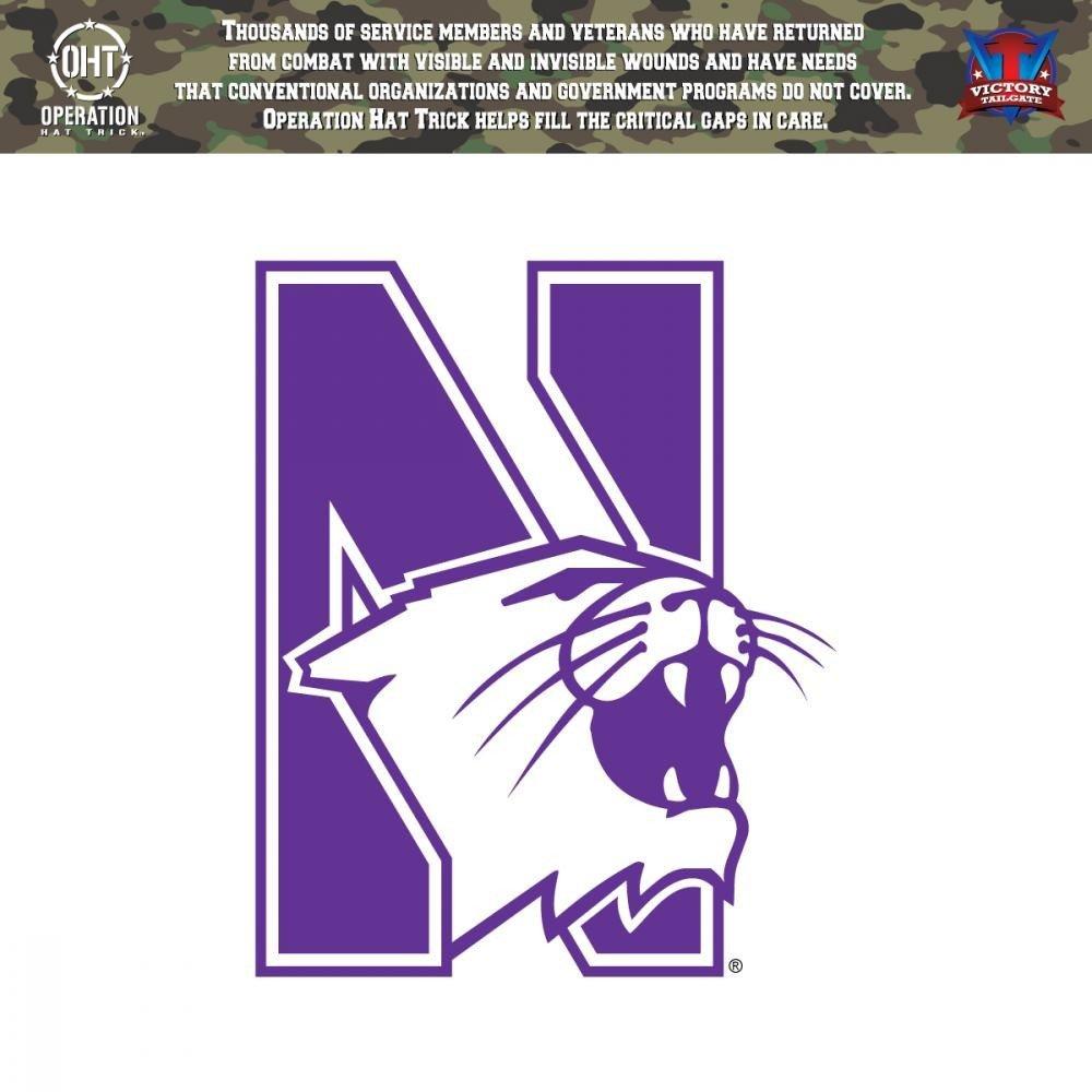 Northwestern Wildcats操作Hat Trick Oht Die Cut Vinyl Decal Approx 12\  B01M7YXA4U