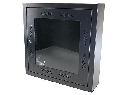 CNAweb 12U 19u0026quot; Slim SoHo Wall Mount Rack Cabinet Enclosure 6u0026quot; ...