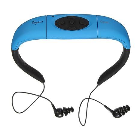a7cdda8619fd1d ELEGIANT Impermeabile Headset Sports MP3 Player di Musica Stereo Auricolare  con Radio FM 4GB di Memoria