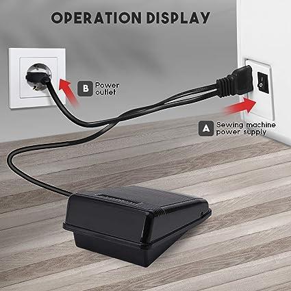 DIYARTS Máquina Coser Pedal Pie Controlador Control Electrónico ...