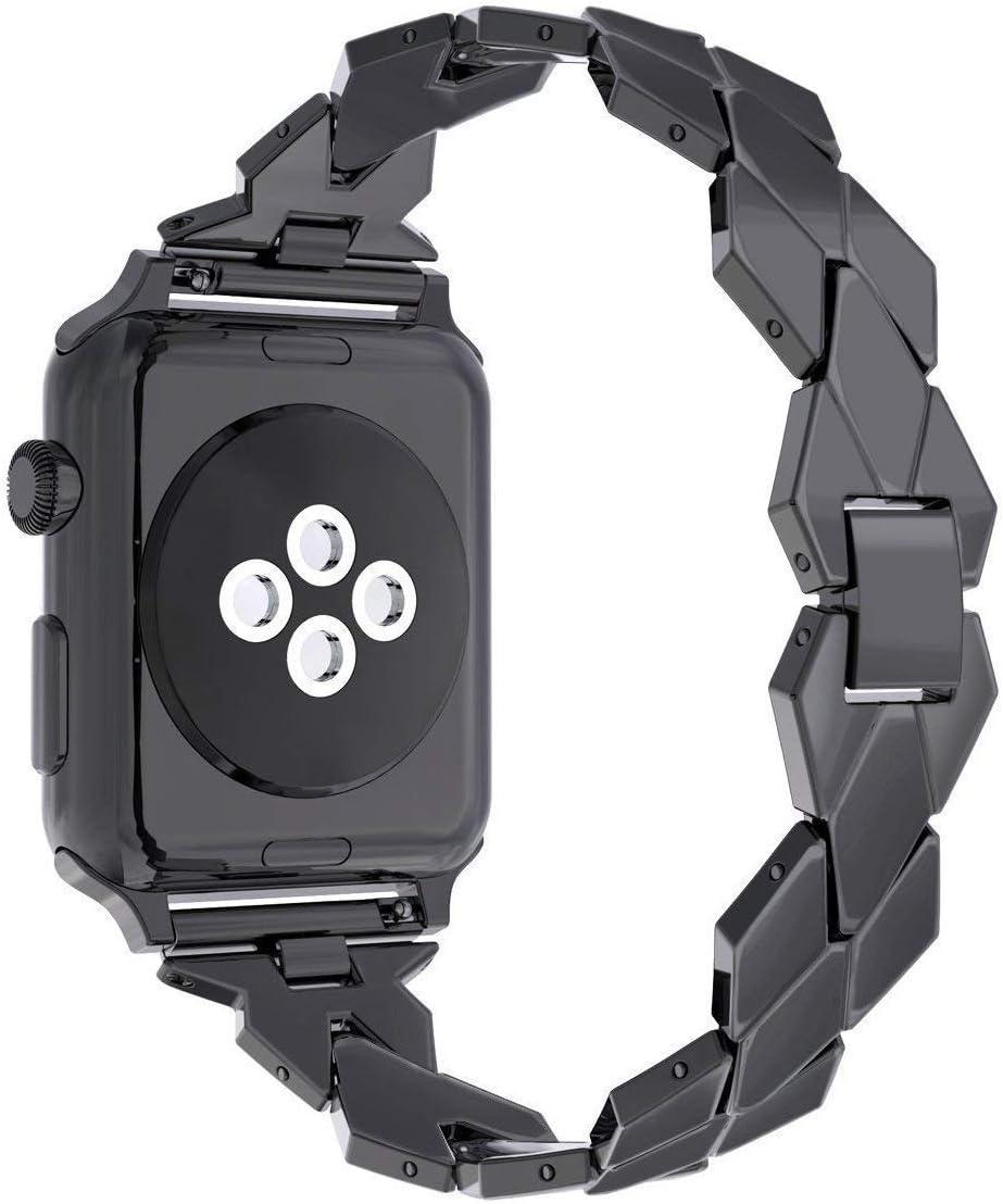AISPORTS Para correa de reloj Apple Correa iWatch de 38mm Correas de reloj inteligente de acero inoxidable de 38mm Correa de repuesto para 38mm Apple Watch Series 3/2/1 Sport Edition