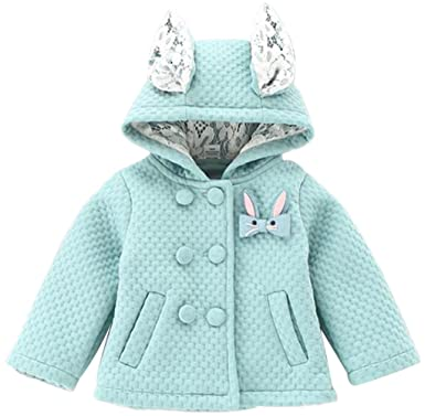 b03d0f2139b3 Amazon.com  EGELEXY Baby Girls 3D Cartoon Rabbit Ear Hooded Double ...