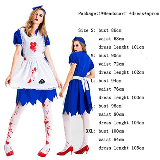 CHNWSJ Disfraces de Halloween Cosplay Mujer Ropa for Mujer Vestido ...