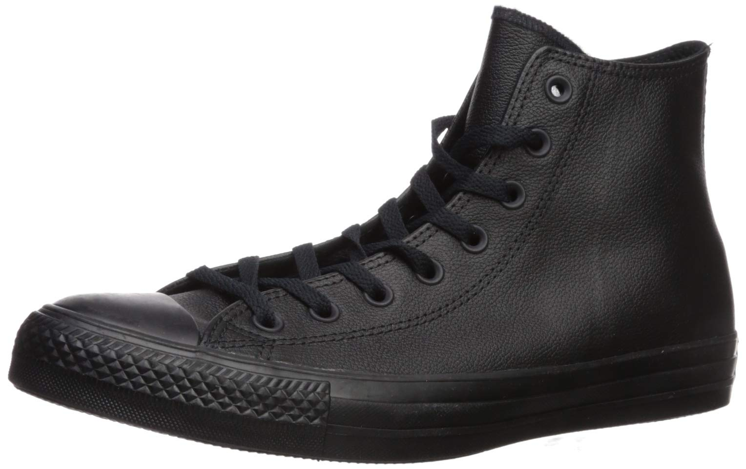 Converse Chuck Taylor All Star Leather High Top Sneaker, Black Mono, 10.5 M US by Converse