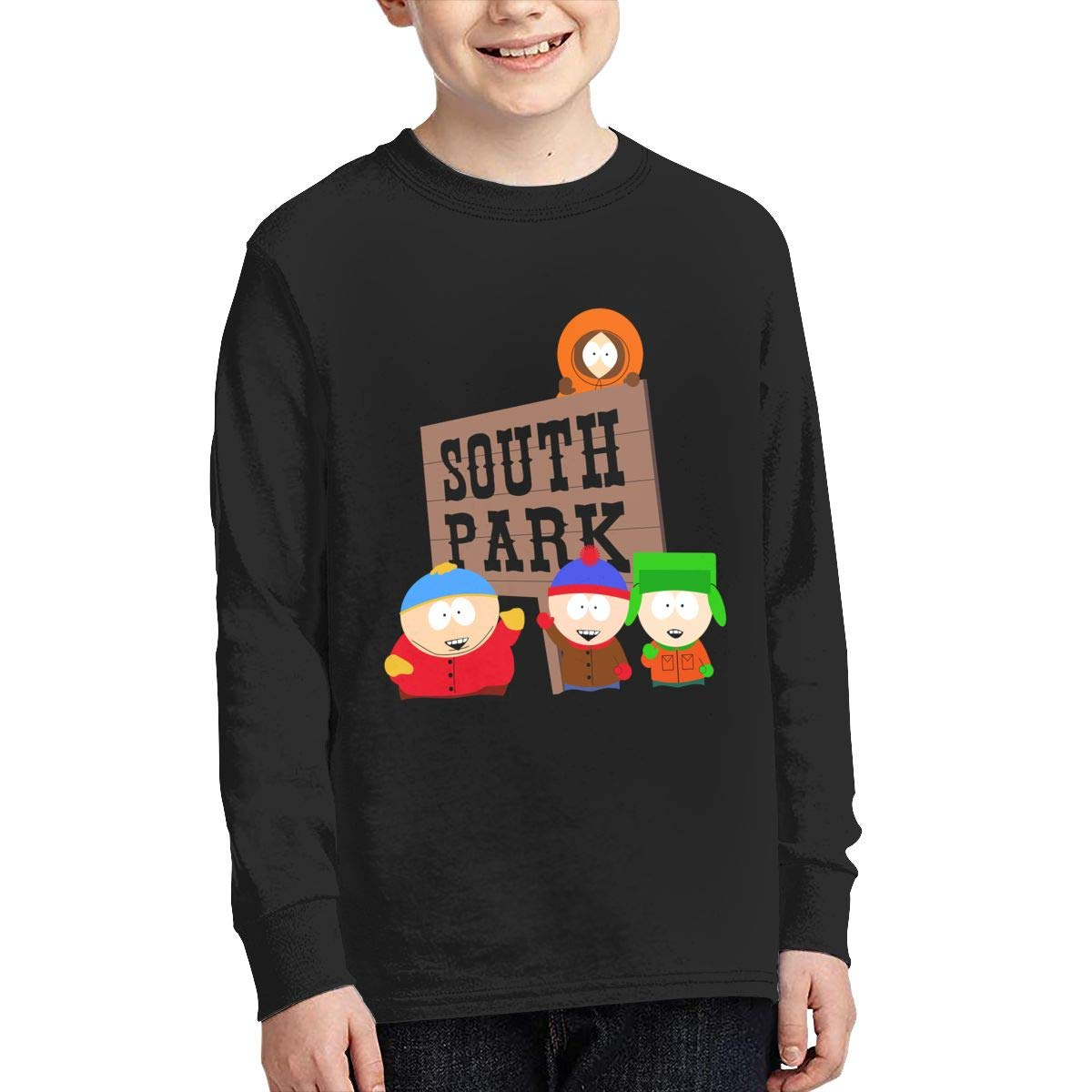 YouNood Youth Junior Funny South Park Season Long Sleeve Tees Black
