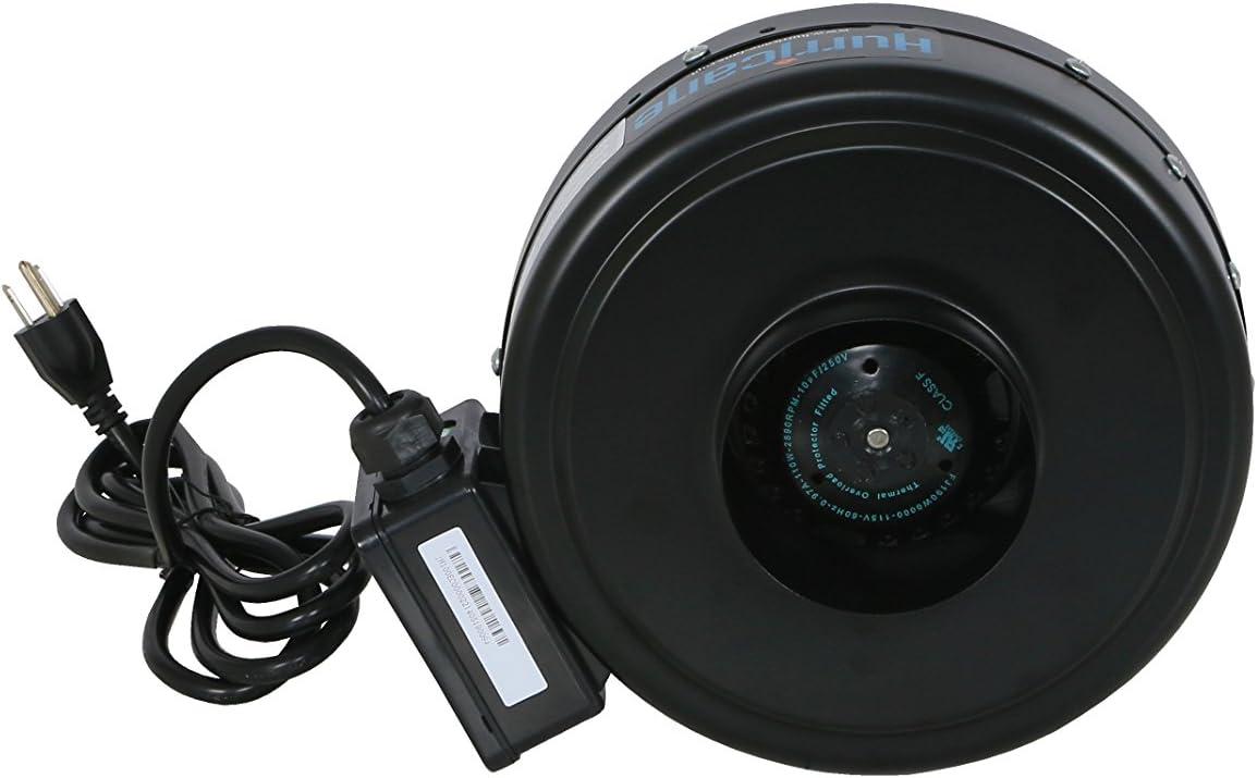 HURRICANE Inline Fan - 4 Inch | 171 CFM | High Performance, Commercial Grade Inline Fans - Ventilation Fan - ETL Listed