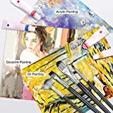 Adkwse Paint Brush Set for Acrylic Oil Watercolor