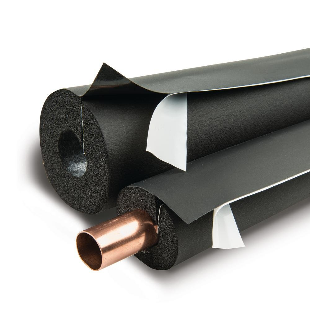Armaflex IPBST01212 Lap Self-Seal 1/2'' x 1/2'' Pipe Insulation - 396 Lineal Feet/Carton, Rubber