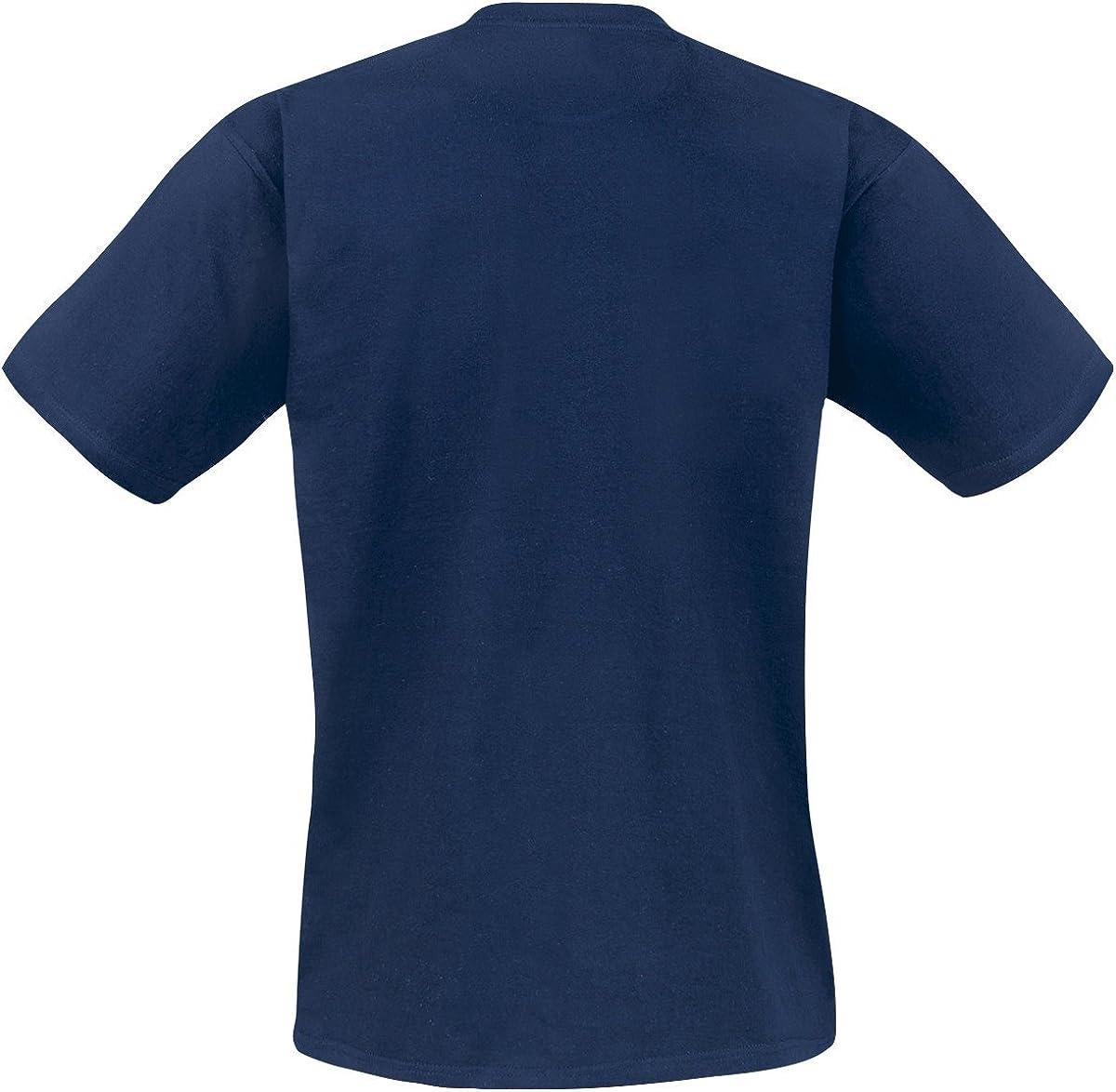 Mixtape Vol 2 Uomo T-Shirt Blu Navy Regular Hasbro Guardiani della Galassia 2