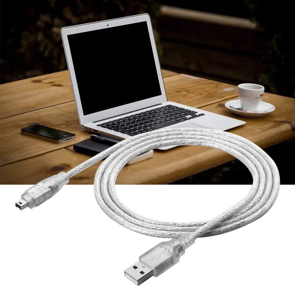 JICHUIO 1,2 m USB 2.0-Stecker auf Firewire iEEE 1394 4-poliges iLink-Adapterkabel