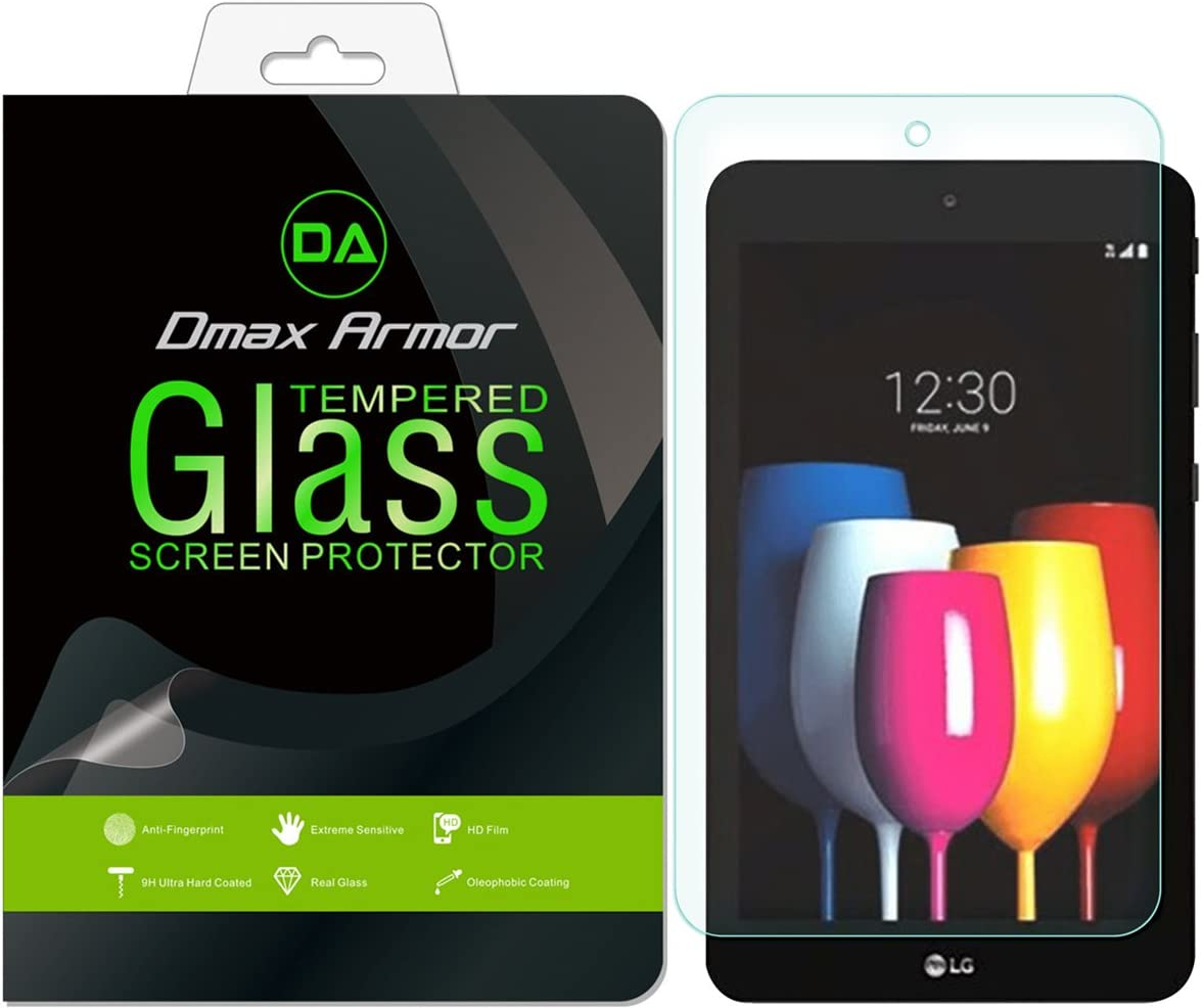 0.3mm 9H Hardness Tempered Glass Ultra-Clear Anti-Fingerprint Bubble Free Anti-Scratch 2-Pack Dmax Armor for LG G Pad X2 8.0 Plus Screen Protector,