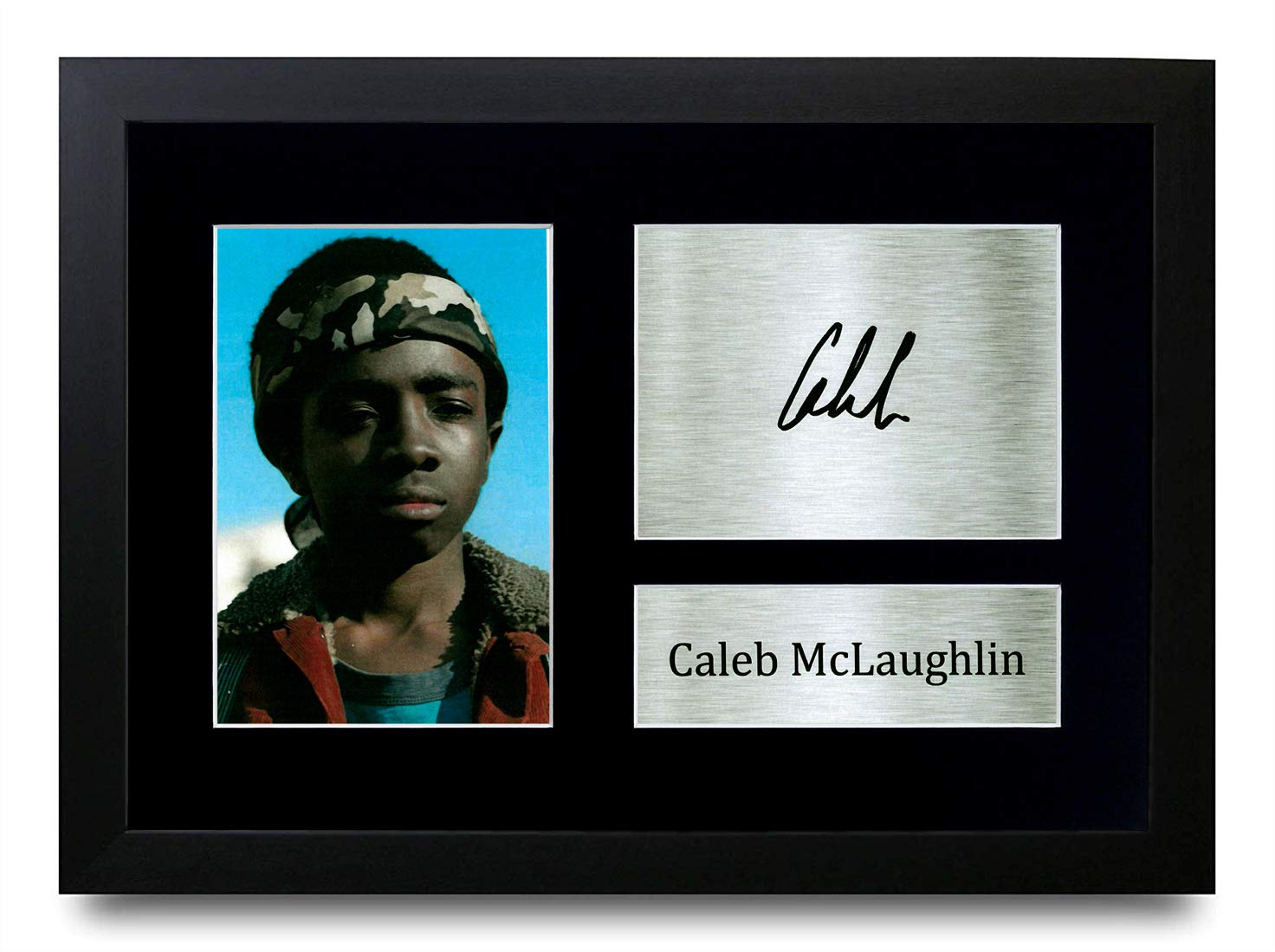 A4 Framed HWC Trading Caleb McLaughlin Stranger things Lucas Sinclair Gifts Printed Signed Autograph Picture for TV Memorabilia Fans