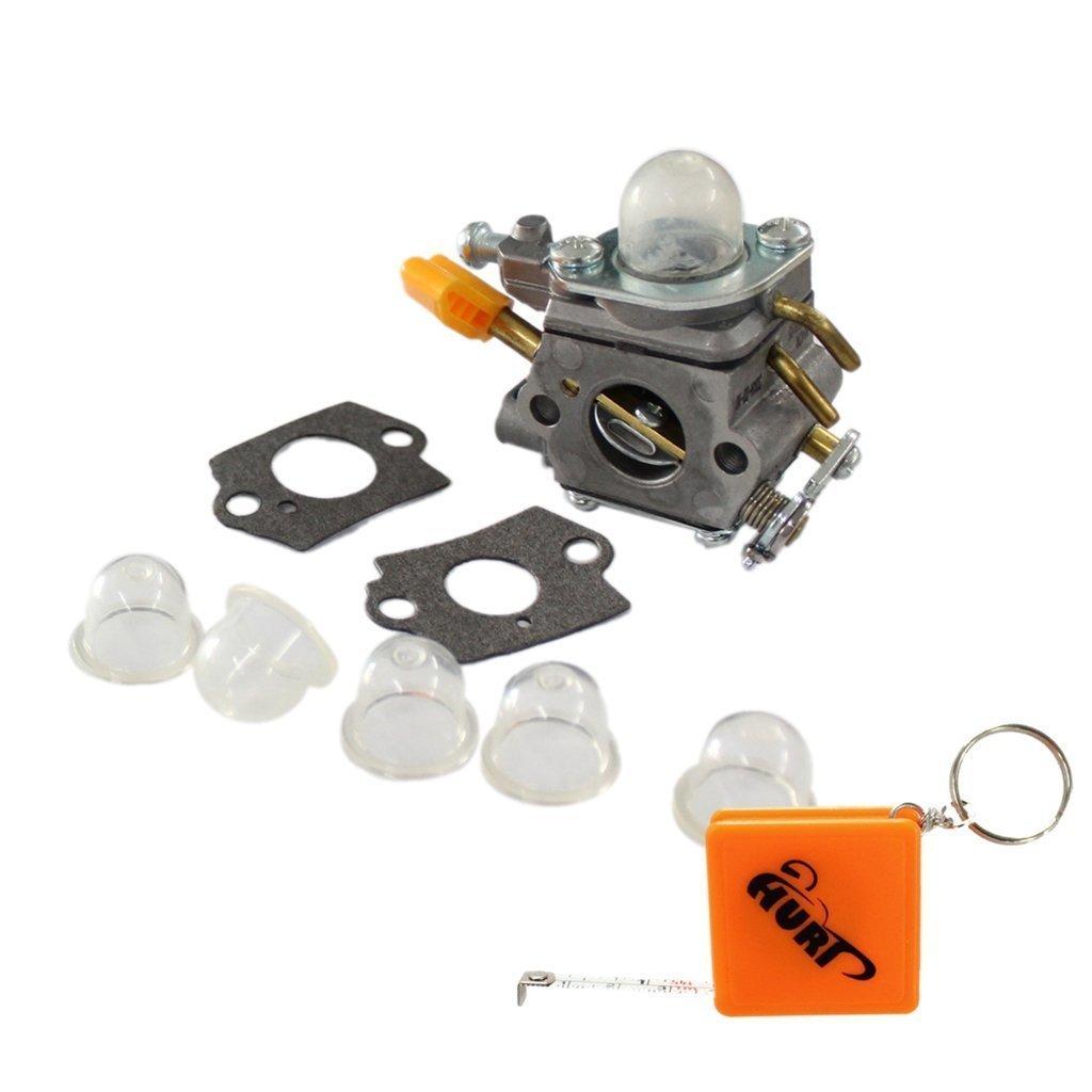 HURI Carburetor with Gasket Primer Bulb for Ryobi Homelite String Trimmer Brushcutter 308054077 RY28101