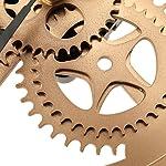 SING F LTD Iron Classic Roman Numeral Steampunk Wall Clock Living Room Décor Black/Gold 8