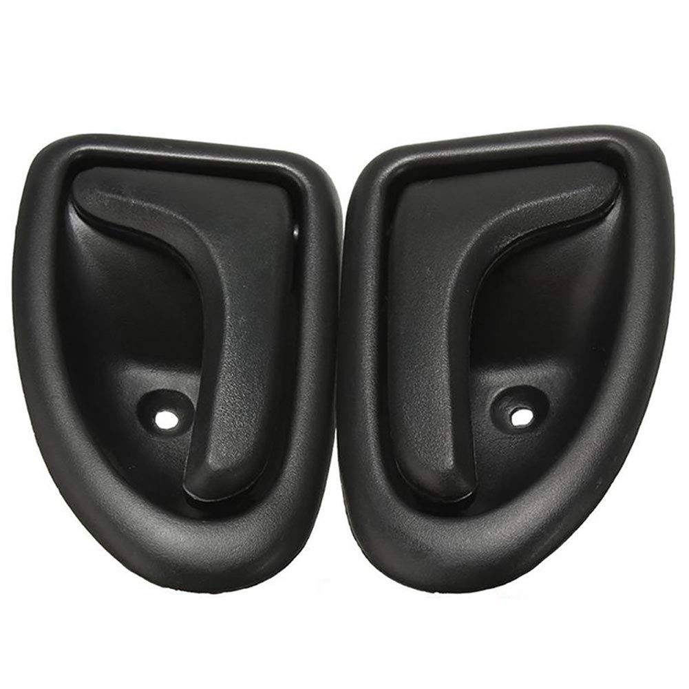 qhtongliuhewu 1 x Car Door Handle Left//Right Side Car Interior Knob Practical For Renault Clio 1999-up Black-Left