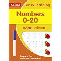 Numbers 0-20 Age 3-5 Wipe Clean Activity Book (Collins Easy Learning Preschool)