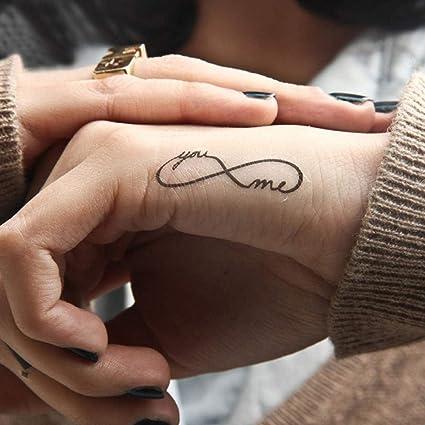 Moda 1 UNID Impermeable Tatuaje Patrón Minimalista Arte Corporal ...