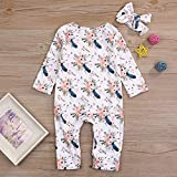 Newborn Baby Girl Clothes Floral Long Sleeve