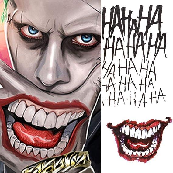 4 estilos Halloween Cosplay The Joker tatuaje temporal pegatinas ...