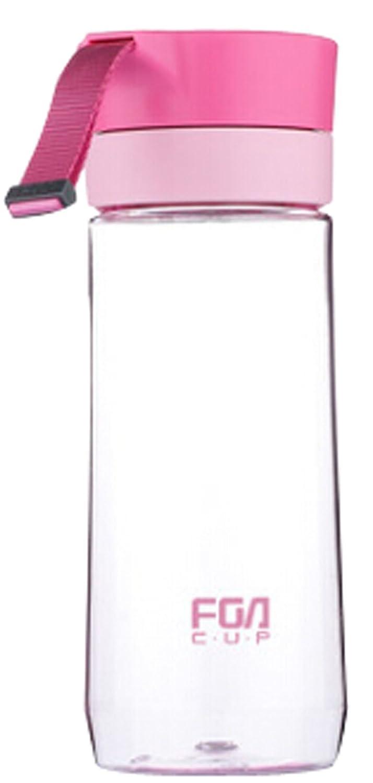 500 mlカバーフィルタでロープ茶カッププラスチックカップLoveマグカップピンク B00Z9PMJ1O