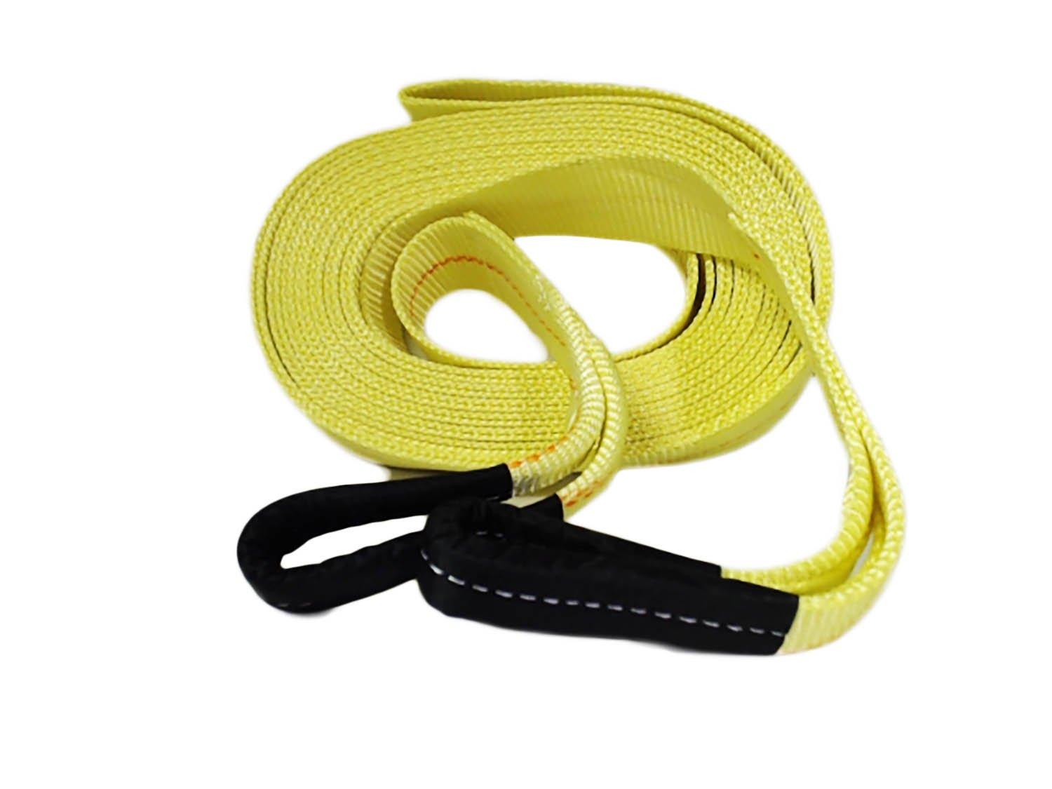 "ABN® Tow Strap with Reinforced Loops 2"" Inch x 20' Foot Vehicle Recovery Rope 20, 000 lbs pound Capacity Recovery Strap"