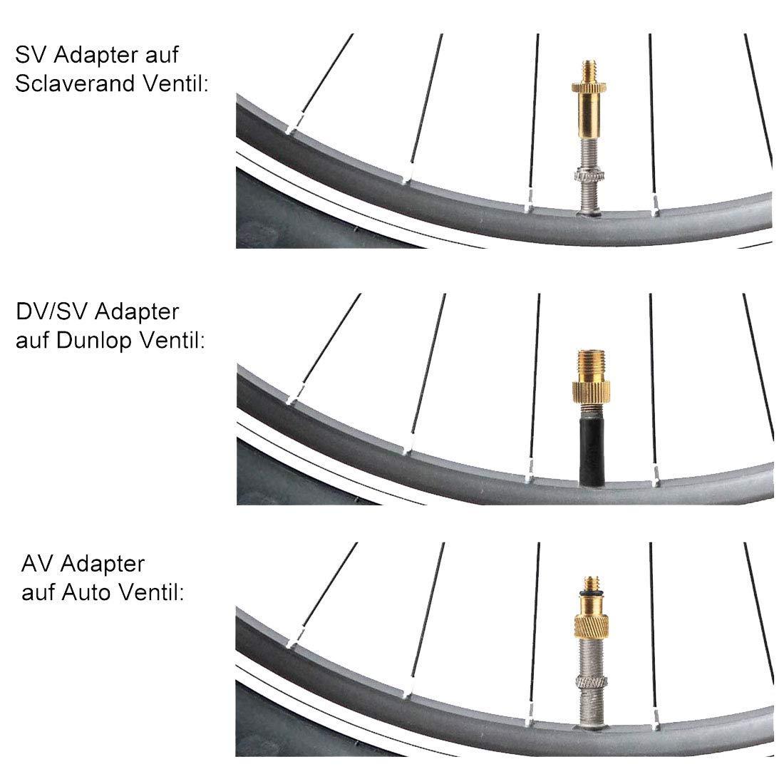 pour Compresseur dair SV AV DV Dunlop Cuivre Pur sans Fuite dair LHKJ 15Pcs Adaptateurs pour Valves