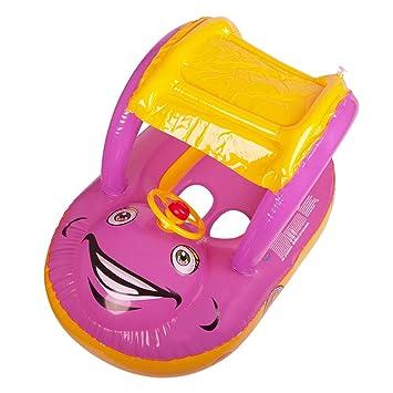 chicvita para bebé forma de coche Natación Anillo Flotador Asiento Barco con parasol y toldo: Amazon.es: Juguetes y juegos