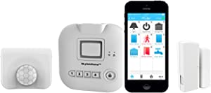 SKYLINK SK-150 Basic Starter Kit Connected Wireless Alarm, Home Security System & Home Automation System, iOS iPhone Android Smartphone, Echo Alexa and IFTTT Compatible with No Monthly Fees, White