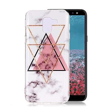 Funda Mármol para Samsung Galaxy J6 2018, Ronger Carcasa TPU ...