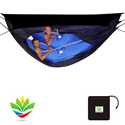 Hammock Bliss Sky Tent 2 - A Revolutionary 2 Person Hammock Tent - Waterproof and Bug  sc 1 st  Amazon.com : hammock tent 2 person - memphite.com