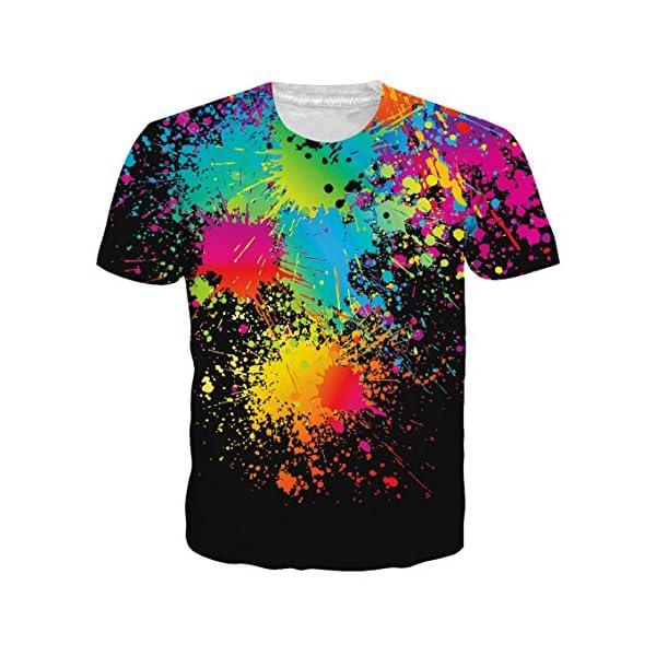 Cutemefy Unisex 3D Print Tshirts Shorts Sleeve Graphic Tee Shirts -