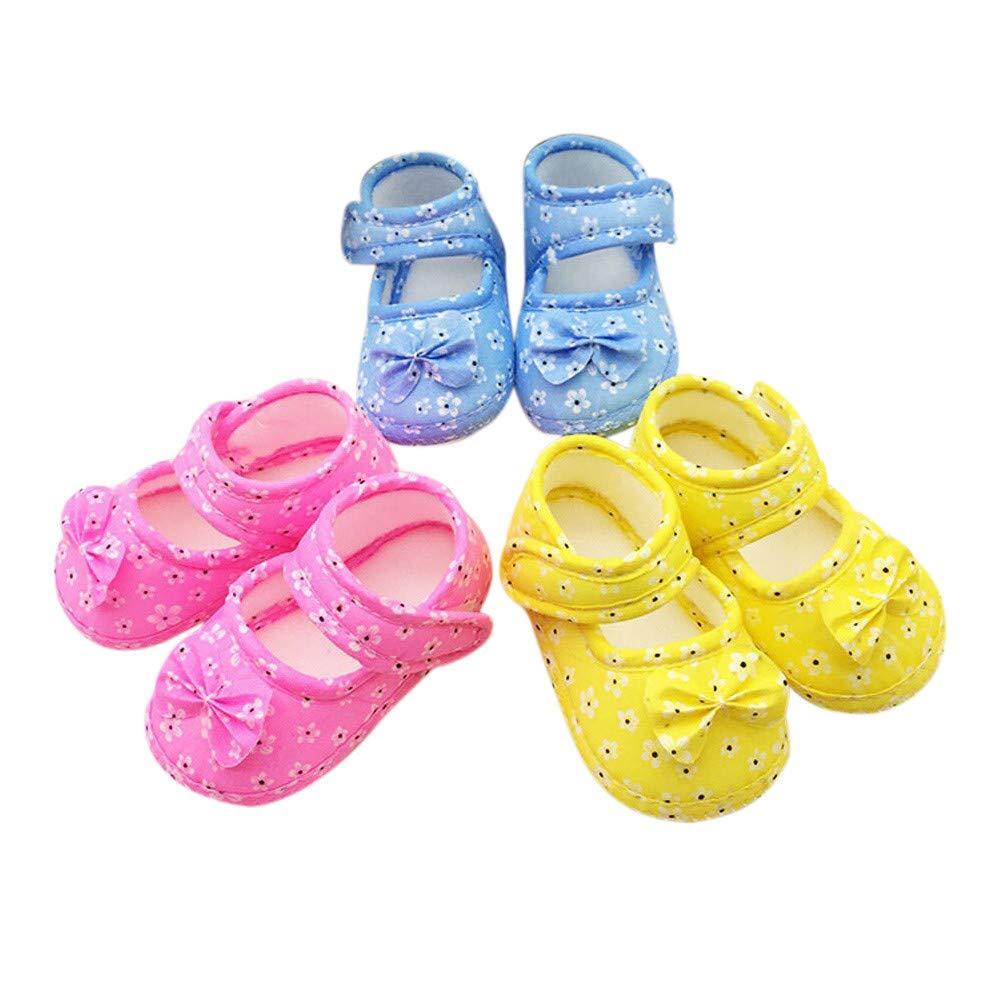 ❤️ Mealeaf ❤️ Kids Baby Bowknot Printing Newborn Cloth Shoes(0-18M)