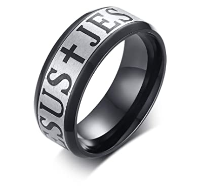 7e61ef9fae2 Image Unavailable. Image not available for. Color  Adisaer Stainless Steel Men  Ring Cool ...