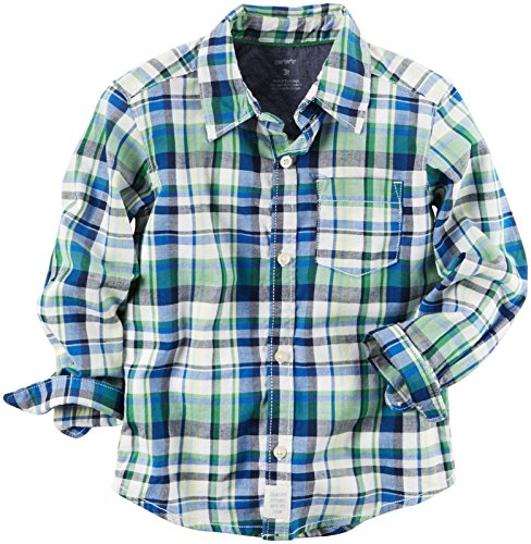 Carter's Baby Boys' Woven Buttonfront 225g880, Plaid, 18 Months