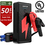 JUMTOP 2500A Peak 20800mAh Portable Car Jump Starter (8.0L Gas/6.5L Diesel Engine) Auto Battery Booster and Power Bank and Phone Charger with Dual USB Smart Charging Port and LED Flashlight