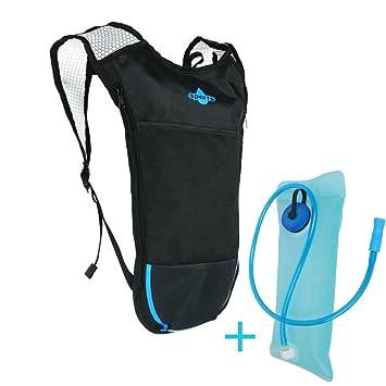 SHEDEU Mochila de Ciclismo MTB 5L Bolsa de Bicicleta al Aire Libre Deporte Mochilas + 2L Bolsa de Agua Azul: Amazon.es: Deportes y aire libre